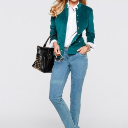 Kadife Zümrüt Yeşili Blazer Ceket 2015 Trendleri