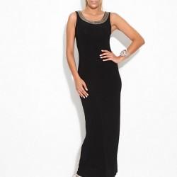 Kolsuz Uzun Siyah Sense 2015 Elbise Modelleri
