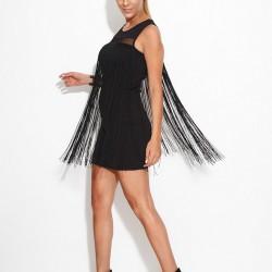 Püsküllü Siyah Sense 2015 Elbise Modelleri