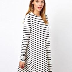 Salaş 2015 Çizgili Elbise Modelleri