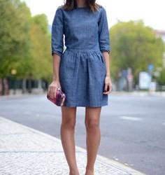 Sokak Modası Kot Elbise Modelleri
