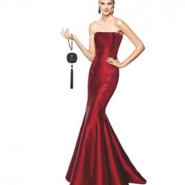 Straplez Kırmızı 2015 Balık Elbise Modelleri