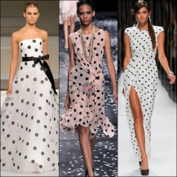 Uzun Puantiyeli Yazlık Elbise Modelleri