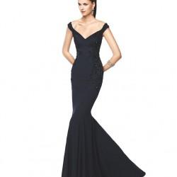 V Yaka Askılı 2015 Balık Elbise Modelleri