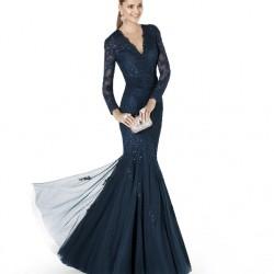 V Yaka Dantel Detaylı 2015 Balık Elbise Modelleri