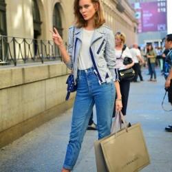 Yüksek bel pantolon, sokak modası 2015