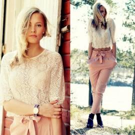 Yazlık Dantelli Bluz Modelleri 2015
