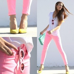 Yeni Pantolon Pembe Renk Kombinler