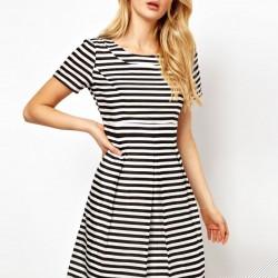 Zarif 2015 Çizgili Elbise Modelleri