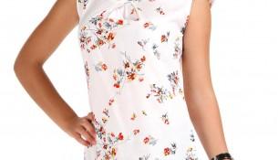 Çiçek Desenli Patırtı Bluz Modelleri
