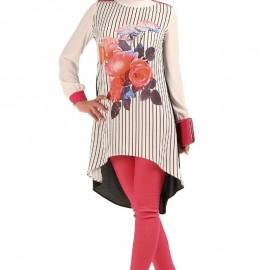 Çiçek desenli çok hoş Patırtı Tunik modeli