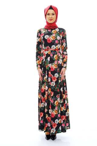 Çiçek desenli Armine elbise modelleri 2015