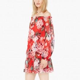 Çiçek desenli Mango elbise modeli
