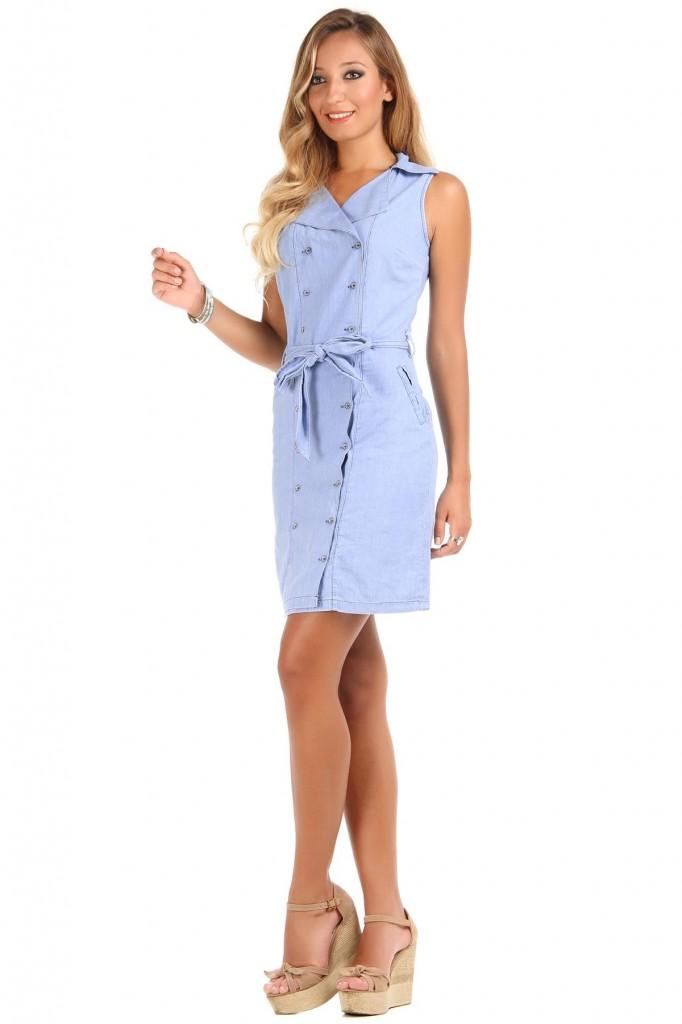 Çok Şık Patırtı Kot Elbise Modeli