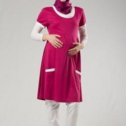 Çok Şık Tesettür Hamile Elbisesi