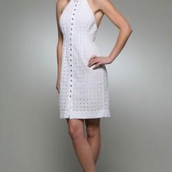 Önden düğmeli kolsuz elbise modelleri