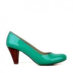 2015 Zarif topuklu su yeşili ayakkabı modeli