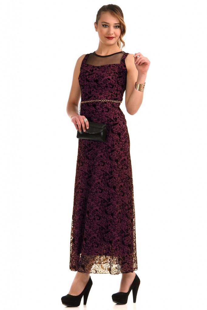 Desenli Patırtı Giyim Abiye modeli