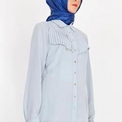 Gri renkli Armine gömlek modeli 2015