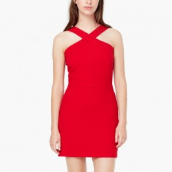 Kırmızı renkli mini Mango elbise modeli