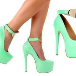 Su yeşili ayakkabı modeli 2015