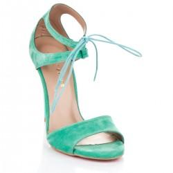 Su yeşili topuklu ayakkabı modelleri