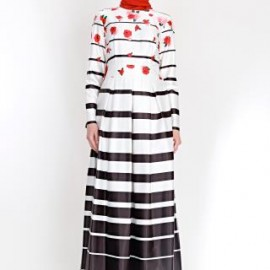 Yeni sezon çiçek desenli elbise modeli 2015
