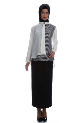Yeni sezon Armine çizgili bluz modeli