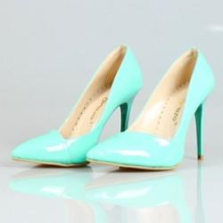 Yeni sezon su yeşili ayakkabı modeli