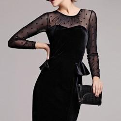 En İddialı Kadife Elbise Modelleri