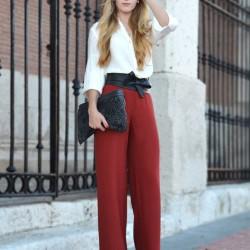 En Güzel Yüksek Bel Pantolon ve Gömlek Kombinleri