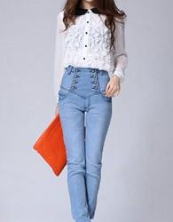 En Tarz Yüksek Bel Pantolon ve Gömlek Kombinleri
