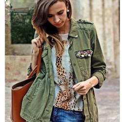 En Yeni Military Bayan Ceket