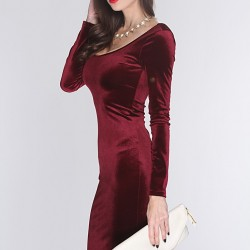 En Zarif Kadife Elbise Modelleri
