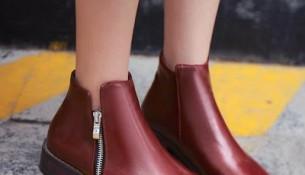 Fermuarlı Yeni Sezon Kış Ayakkabı Modelleri