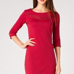 Kırmızı Renkli DeFacto Tren Elbise Modeli