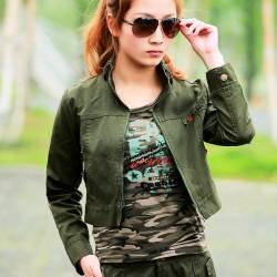 Kısa Military Bayan Ceket Modelleri