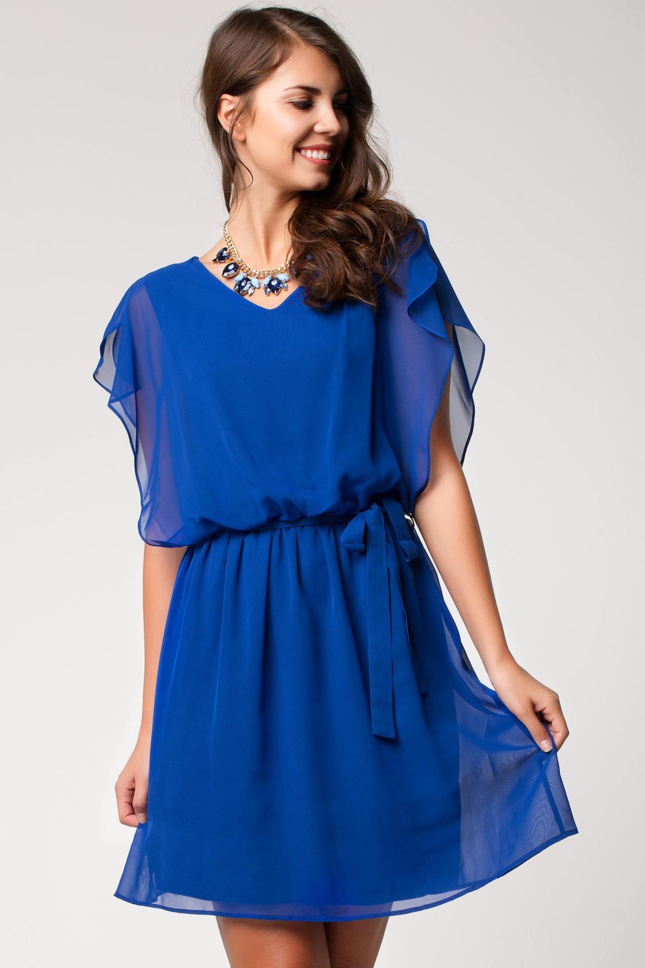 e254ad2c57fcb Mavi Renkli Şifon Detaylı DeFacto Elbise Modeli »