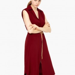 Mango Dökümlük Midi Gömlek Elbise Modeli