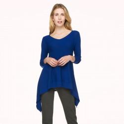 Mavi V Yaka İpekyol Triko Modelleri