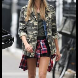 Sokak Modası Military Bayan Ceket Modelleir