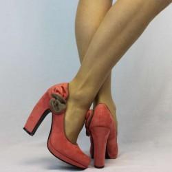 Topuklu bayan süet ayakkabı modeli