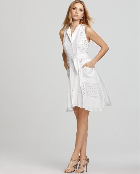 Beyaz Renkli En Zarif Gömlek ELbiseler