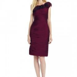 Bordo Renkli Kısa Abiye Elbise Modelleri