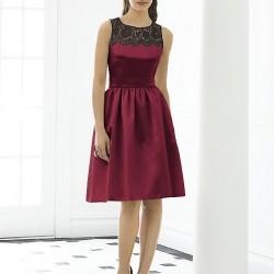 Dantel Süslemeli Bordo Renkli Abiye Elbise Modelleri