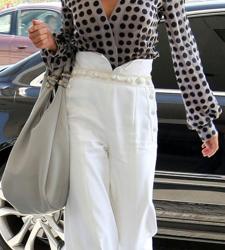 En Şık Yüksek Bel Kumaş Pantolon Modelleri