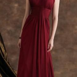 En Güzel Bordo Renkli Tek Omuzlu Abiye Elbise Modelleri