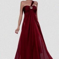 En Hoş Bordo Renkli Abiye Elbiseler