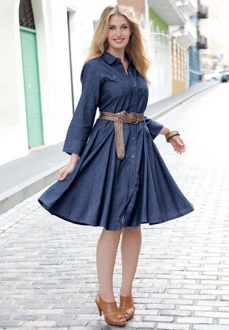 Midi Gömlek Elbise Modelleri