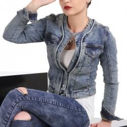 Patırtı Bayan Kot Ceket Modeli